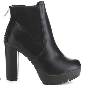 Shoes - Chunky Platform Ankle Booties